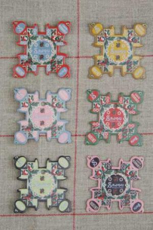 Normandie Thread Cards - Apple Motifs ~ SAJOU