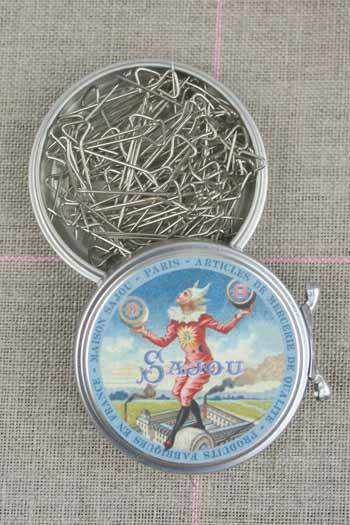 Metal Tins with T-pins ~ SAJOU