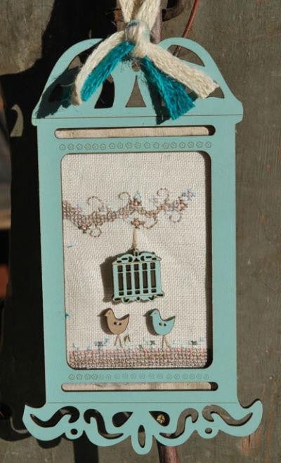 BLUE VINTAGE BIRDCAGE KIT ~ The Bee Company