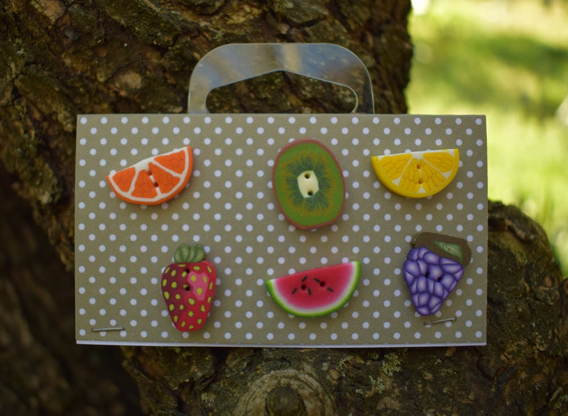 Fresh Fruit buttons set! ~ PuntiniPuntini