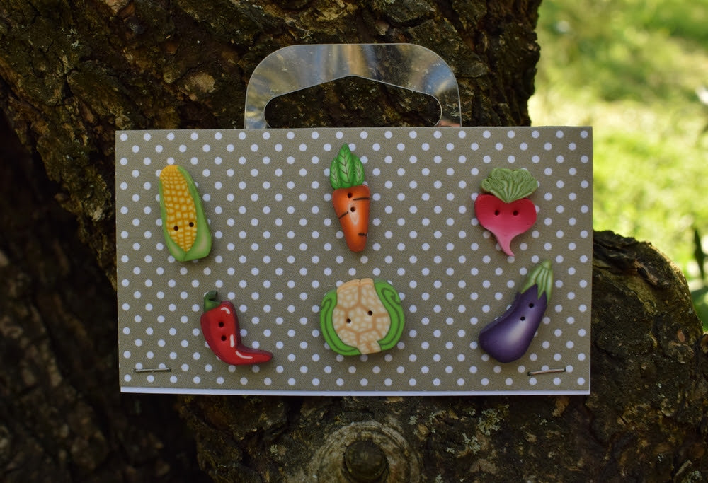 Veggie selection buttons set ~ PuntiniPuntini
