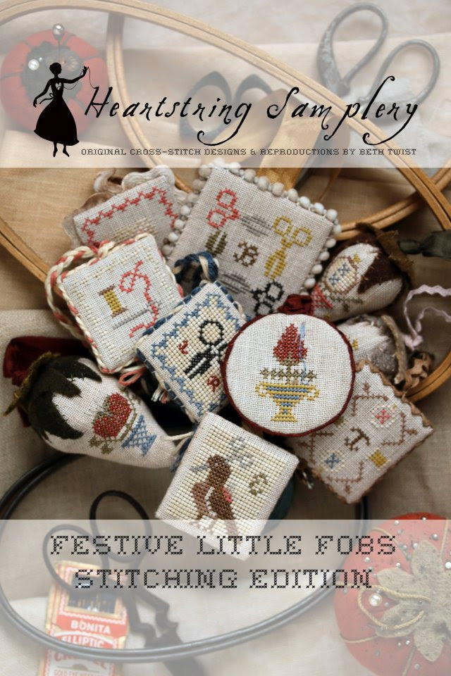 Festive little fobs 3  ~ Stitching edition ~ Heartstring Samplery