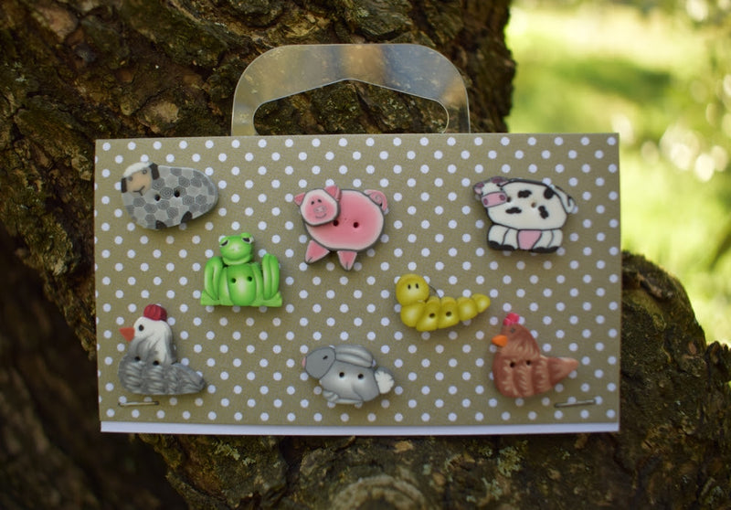 Farmhouse animals buttons set ~ PuntiniPuntini