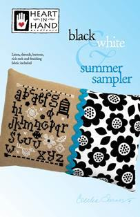 Black & White Summer Sampler kit ~ Heart In Hand