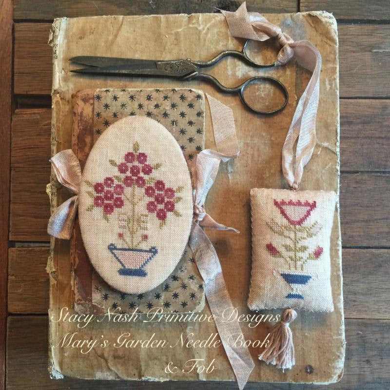 Mary's Garden Needle Book & Fob ~ Stacy Nash Primitives