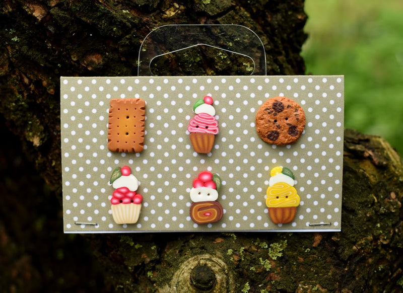 Cookies & Cupcakes button set ~ PuntiniPuntini