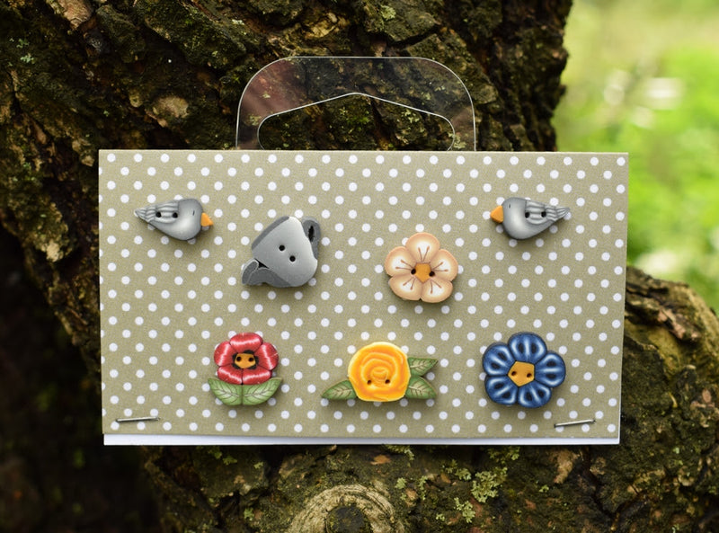 In the Garden buttons set! ~ PuntiniPuntini