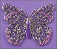 Silver Filigree Butterfly Vintage Winder ~ Just Nan ~ Vintage Winder