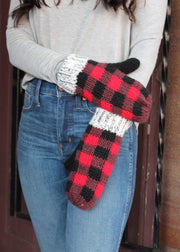 Brandy Buffalo Plaid Mittens