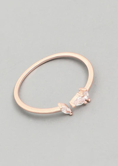 Dainty Marquise Open Ring