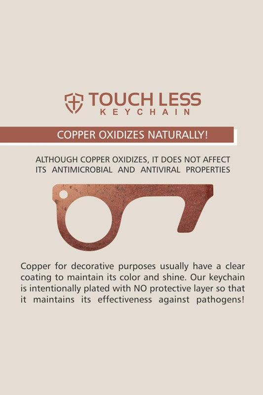 Touchless Copper Keychain
