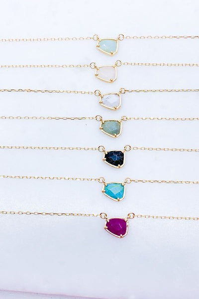 Sarahbeth Stone Necklace | Assorted Colors