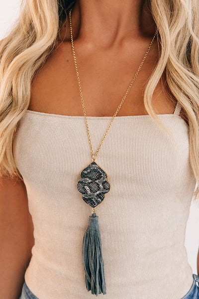 Per-suede Me Tassel Necklace