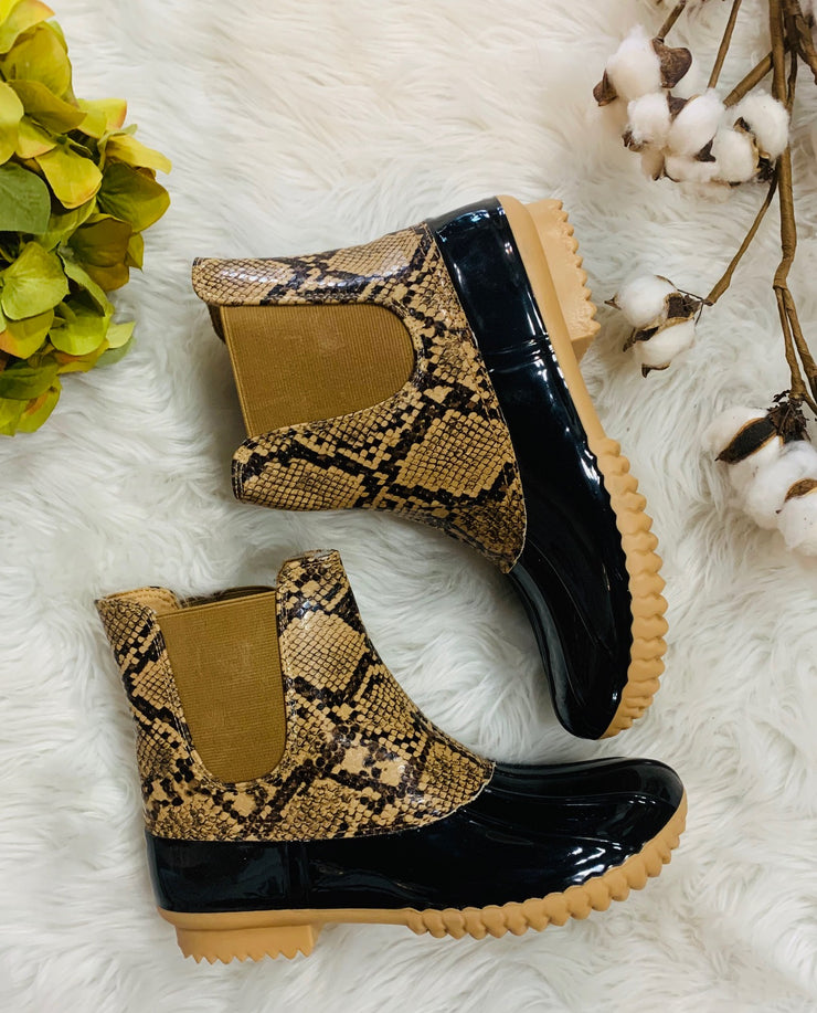 Blair Duck Boot (Brown Snake)