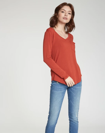 Molly Rust Long Sleeve Top