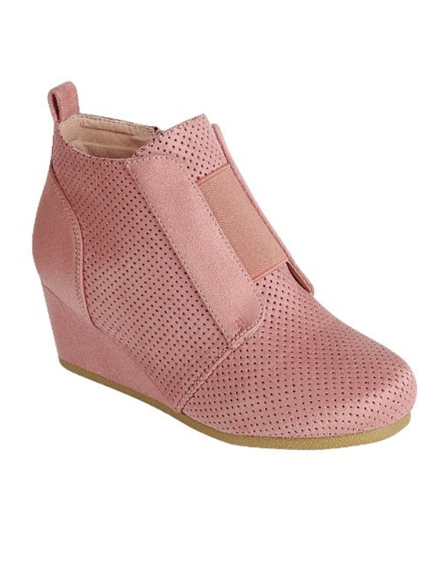 Skylar Tennis Shoe Wedge - Blush