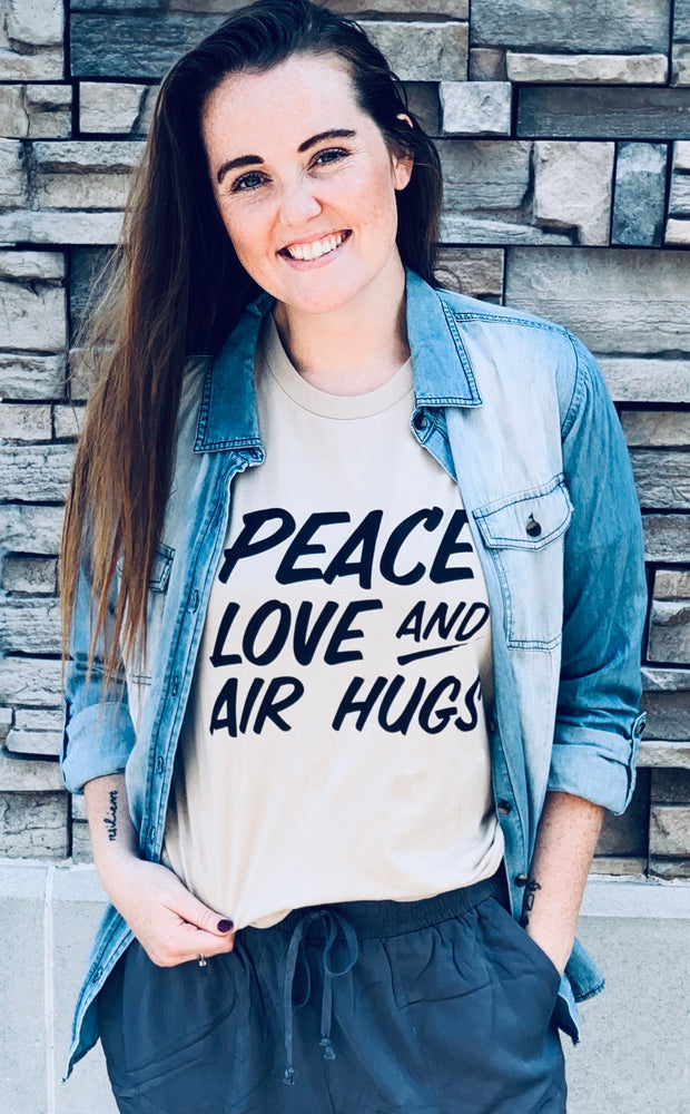 Peace, Love & Air Hugs Graphic