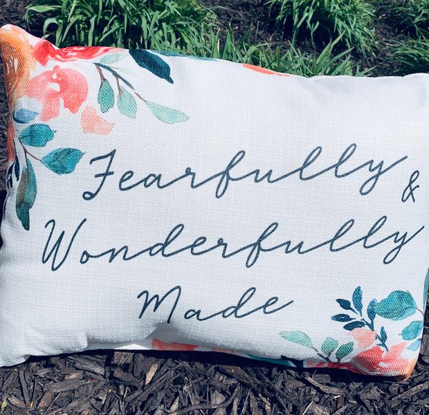 Fearfully and Wonderfully Made Pillow