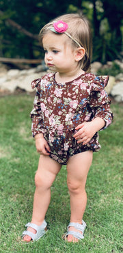 Rhodes Bubble Shorty Romper | November Nuetrals