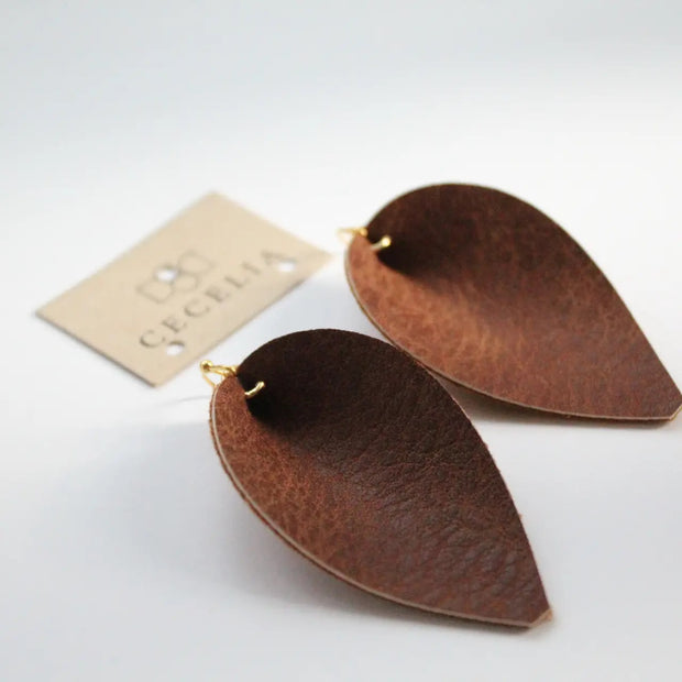 Joanna Leather Earring (Natural)