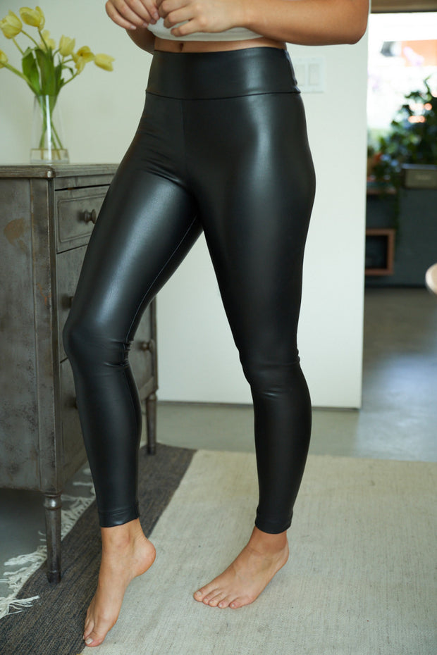 Phoebe Pleather Leggings