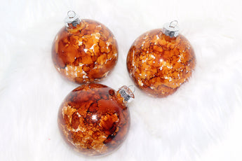 Sepia Glass Christmas Ornaments