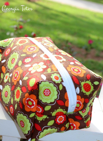 Floral Makeup bag, Cosmetic Case