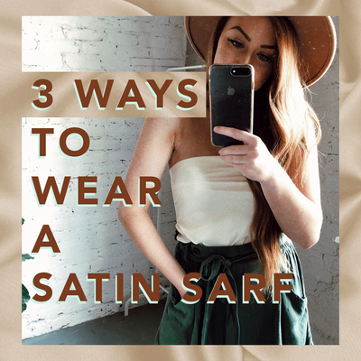 3 Ways To Wear a Satin Scarf