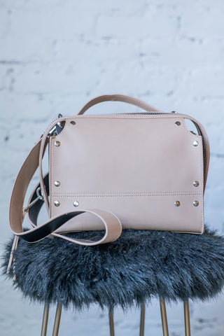 Beige Satchel with cross body strap
