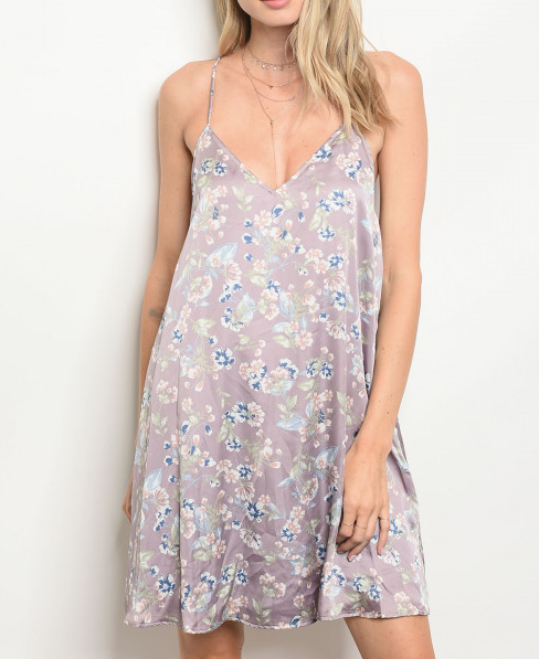 Steal The Show Floral Dress Lavender - Shellsea