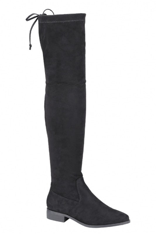 No Stomping Me Thigh-High Boots Black