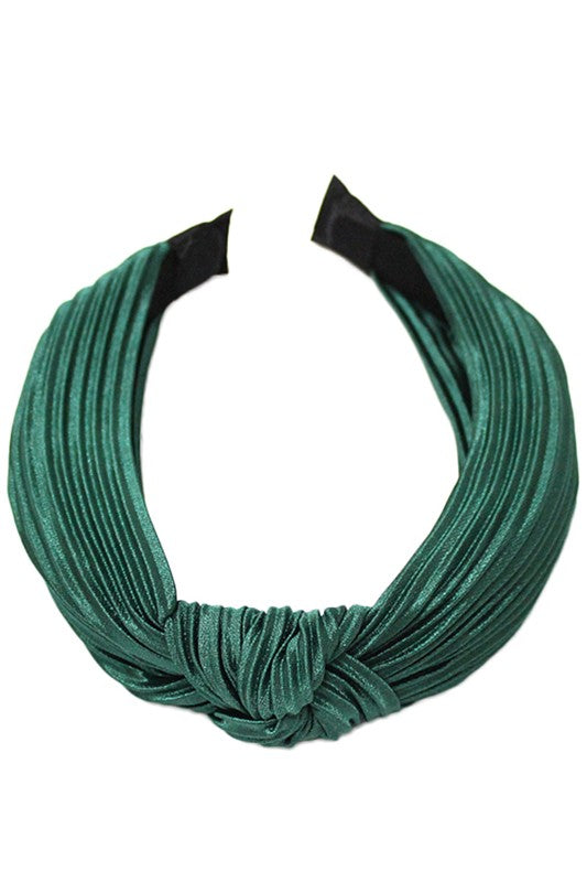 Pleated Silk Knot Headband