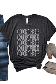 Coffee Coffee Graphic Tee Black
