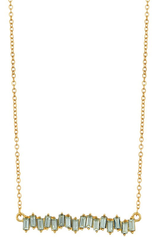 Scattered Stone Gold Necklace