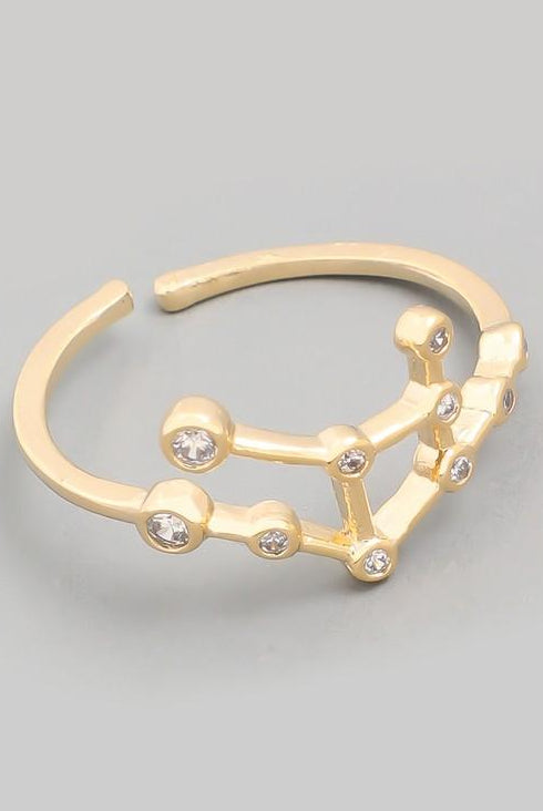 Virgo Constellation Gold Ring