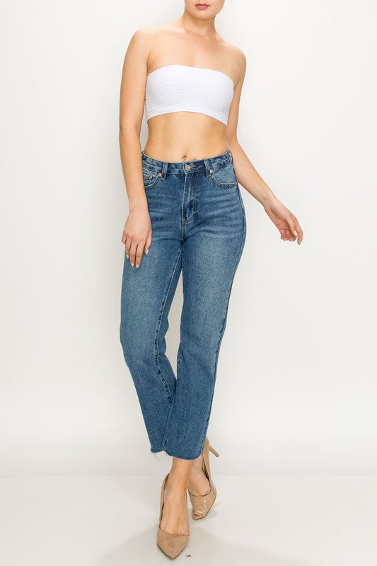 Taylor High Rise Straight Leg Jeans