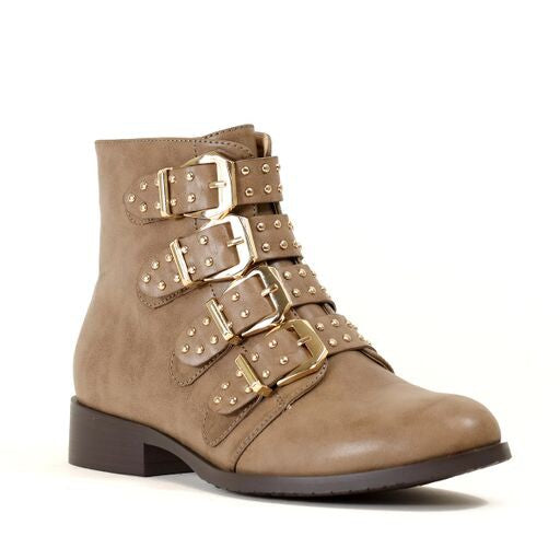 All Buckled Up Boots Khaki