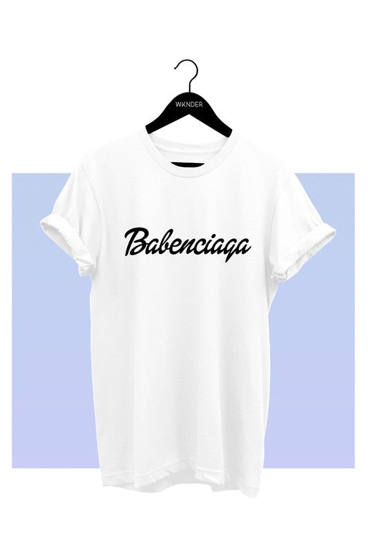 Babenciaga Graphic Tee White