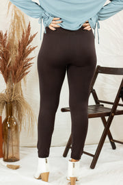 Great Lengths High Waisted Leggings Brown