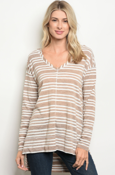 Let's Taupe About It Hooded Top - Shellsea