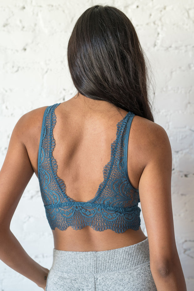 The Dreamer Lace Bralette Teal