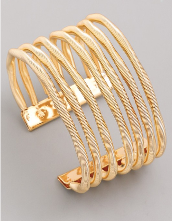 Spring Into Love Cuff Bracelet Gold - Shellsea