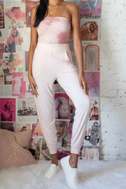 Making Time Joggers Pink