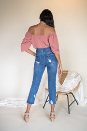Claire Straight Leg Jeans Medium Wash