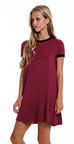 Against The World Tunic Burgundy - Shellsea