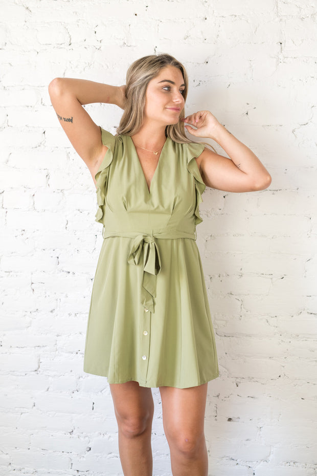 Back to Love Mini Dress Olive