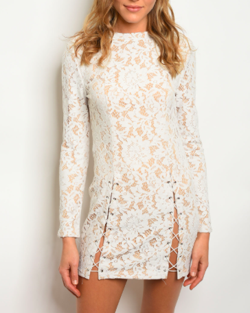 All Eyes On Unique Dress Ivory - Shellsea