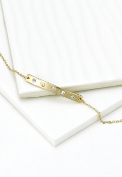 Dainty Bar Gold Bracelet