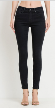 Edgy As Ever Mid Rise Black Skinny - Shellsea