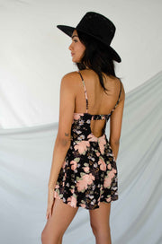 Special Mention Floral Romper Black